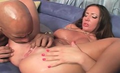 Curvy slut gets pussy smashed by black cock