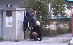 Stripper that is Czech gives blowjob in public places