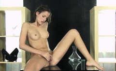hot brunette loves to pee