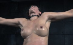 Bigtit sub slut throated with massive dildo