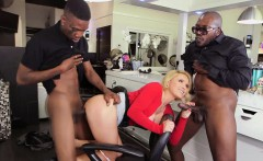 Big titted blonde milf Krissy Lynn banged by blacks