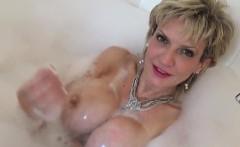 Unfaithful english mature gill ellis displays her big boobie