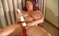 BBW Redhead Electronic Machine Masturbation