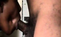ebony partner a mouthful of cum