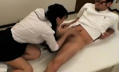 sexy nurse gives her patient some extra loving with a blowj