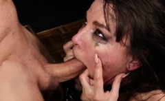 Tiedup dominated submissive facefucked rough