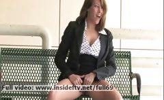 Lidia _ Amateur brunette playing with her boobs and pussy