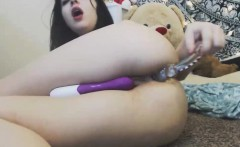 Anal Glass Dildo For Chubby Teenager