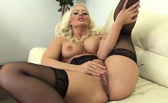 Holly Heart Masturbates While Wearing Lingerie with