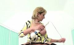 Unfaithful english mature lady sonia flashes her big boobs