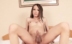 Japanese shemale assfucked with hard on