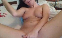Hot Babe With Natural Big Tits Finger Fucks Herself