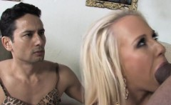 poor cuckold watching carla cox fucking with a black bull