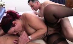 Reife Swinger - MMF threesome with redhead German amateur