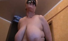 Russian granny undressing