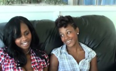 Ebony Babes Play With A White Slave