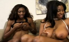 two buxom black lesbians share their favorite toys and find pleasure