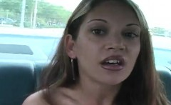 Beautiful blonde puts her great blowjob talents into action in the car