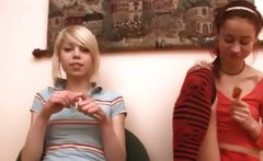 Horny teens from estonian and lollipops