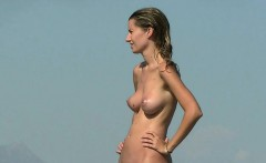 another day on the beach with the hot nudist girls