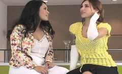 Naughty kittens penetrate the biggest strap-ons and spray ej