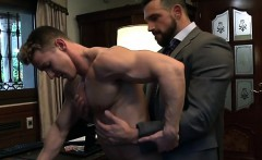 Muscle boy anal sex with cumshot