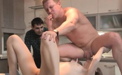 skint boyfriend lets slutty buddy to pound his companion for