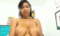 hot ebony being naughty on camera