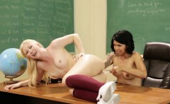 Naughty teen Samantha punished by teacher Dana