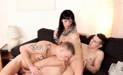 Bisex Threesome with Mature Tara