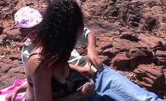 African teens sucking on stiff cocks outdoors
