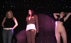 two hotties fool around on the stage