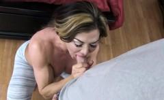 Big tits milf blowjob with facial