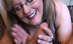 amateur girlfriend handjob with cum in mouth