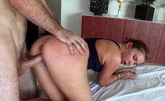 Teen booty babe takes bigcock in tight pussy