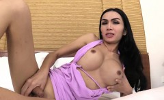 Big boobs asian ladyboy deep anal fucked by a huge dick
