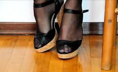 Alessandra autoreggenti e scarpe