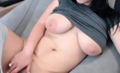 Cute Huge Tits Camslut Playing Herself On Cam
