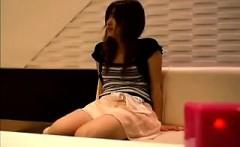 shameless japanese girl flashes her upskirt in a public pla
