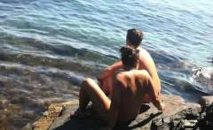 nudist female with big clit nude on beach voyeur cam