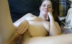 Hairy Brunette Compulsive Masturbation