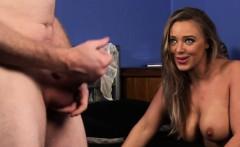Busty british voyeur instructs with dirtytalk