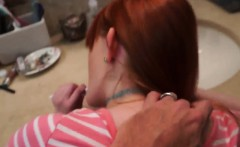 Dad and duddy's daughter dirty talk has huge tits first time
