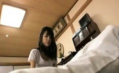Bottomless Japanese nurse sixtynine blowjob in public