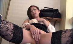 Horny babe rubs and pees