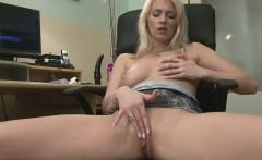 gamer girl takes a break by masturbating passionately