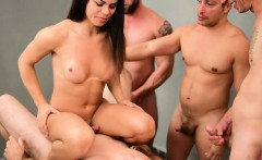 Hot Tranny Loves Being Gangbang Fucked By A Group Of Guys