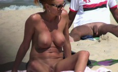 horny blonde milf amateur close up pussy beach voyeur video