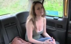 Female cab driver bangs natural busty lesbian