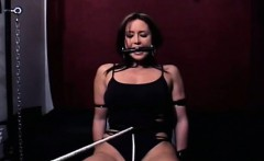 Irresistable busty playgirl gets aroused by being restrained